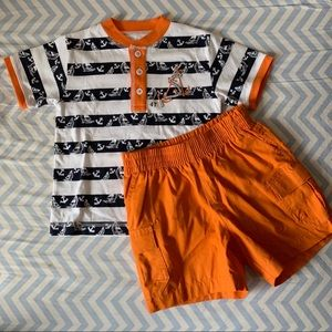 NWOT Kitestrings nautical shirt & shorts set